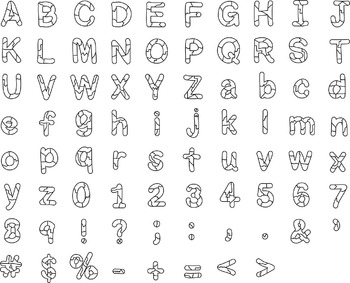 Bulletin Board Broken Letters Alphabet Clipart Perfect for Doodle or Sketch