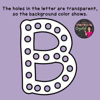 Alphabet with Transparent Holes Clipart