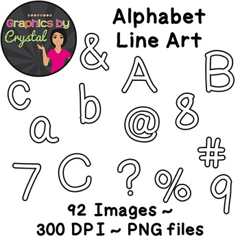Bulletin Board Letters Alphabet Line Art Clipart