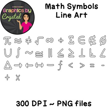 Math Clipart for coloring pages and bulletin boards