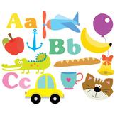 Alphabet Clipart - ABC - Clipart & Vector Set - Instant Download
