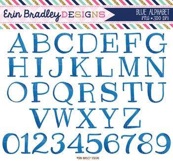 Alphabet Clipart - Blue