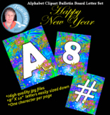 Alphabet Clipart Bulletin Board Letter Set Happy New Year