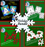 Alphabet Clipart Bulletin Board Letter Set Holiday Bundle