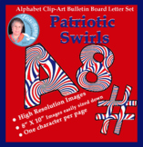 Alphabet Clipart Bulletin Board Letters Patriotic Swirls