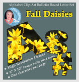 Alphabet Clipart Bulletin Board Set Daisies