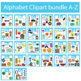 Alphabet Clipart Bundle A-Z Beginning Sounds