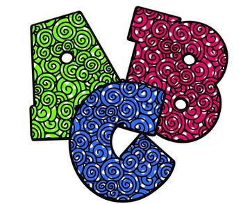 Alphabet Clipart ~ Chunky Swirls!