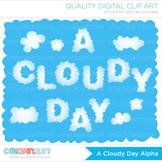 Alphabet Clipart - Clouds Alphabet / Cloudy Day
