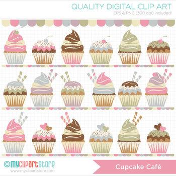 FREE Clipart - Cupcake Café