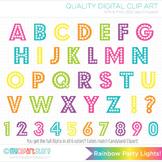 Alphabet Clipart - Rainbow Dotts ABC / Party Lights ABC