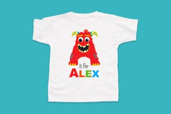 Alphabet Clipart - Monster ABC (Boy)