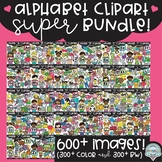 Alphabet Clipart SUPER Bundle ($117 value!)
