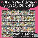 Alphabet Clipart SUPER Bundle! {$117 value!}