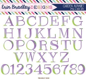 Alphabet Clipart - Garden