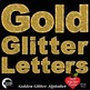 Alphabet Clipart, Glittering Gold Bokeh Letters Clipart, AMB-2226