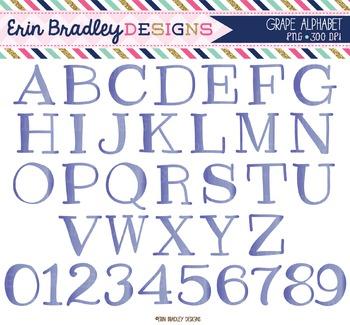 Alphabet Clipart - Grape