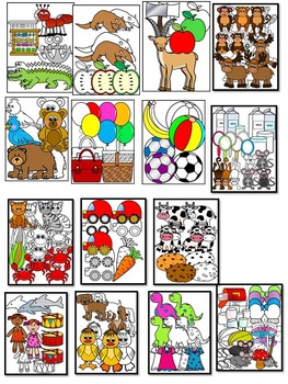 Alphabet Clipart Graphics-Letter Clipart Bundle 1 (A-M) Commercial Use