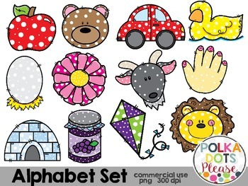Alphabet Clipart {Graphics for Commercial Use}