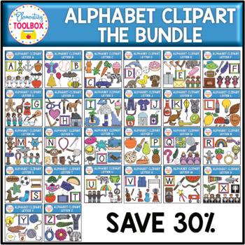 Alphabet Clipart Bundle (Beginning Sounds)