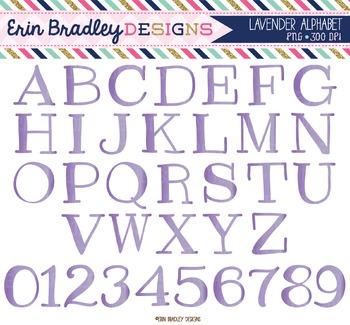 Alphabet Clipart - Lavender