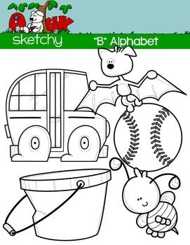 """Alphabet Clipart Letter """"B"""" Graphics - Clip art"""