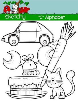 """Alphabet Clipart Letter """"C"""" Graphics - Clip art"""