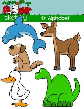 """Alphabet Clipart Letter """"D"""" Graphics - Clip art"""