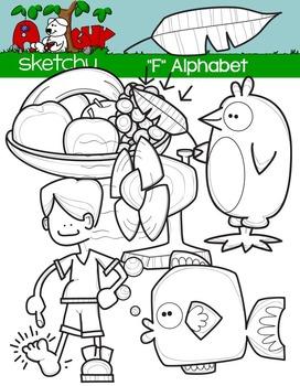 """Alphabet Clipart Letter """"F"""" Graphics - Clip art"""