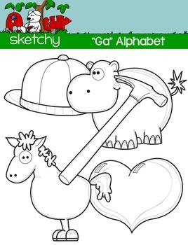 """Alphabet Clipart Letter """"H"""" Graphic - Clip art"""
