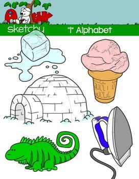 """Alphabet Clipart Letter """"I"""" Graphic - Clip art"""