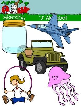 """Alphabet Clipart Letter """"J"""" Graphic - Clip art"""