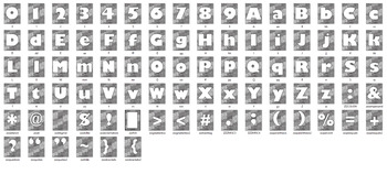 Alphabet Clipart Letter Set Abstract Wave Background