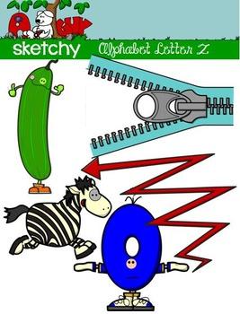 """Alphabet Clipart Letter """"Z"""" Graphic - Clip art"""