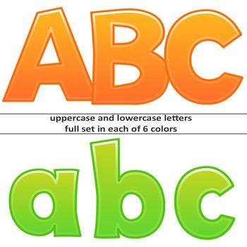 Alphabet Letters Clipart - Cartoon Style