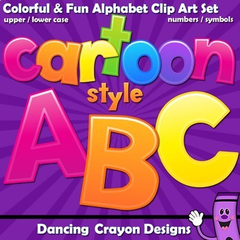 Alphabet Letters Clip Art - Cartoon Style| Bulletin Board Letters