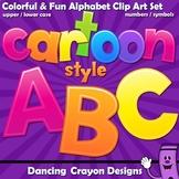 Alphabet Letters Clip Art - Cartoon Style   Bulletin Board Letters