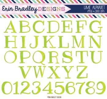 Alphabet Clipart - Lime