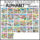 Alphabet Clipart Mega Bundle by Bunny On A Cloud