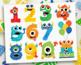 Alphabet Clipart - Monster Numbers (Boy)