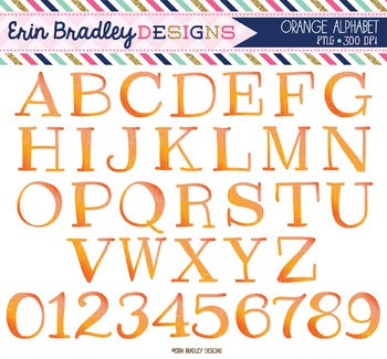 Alphabet Clipart - Orange