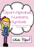 Alphabet Clipart Pink