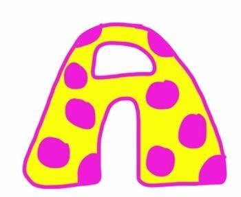Alphabet Letters Clipart Polka Dots