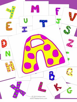 Alphabet Letters Clipart Polka Dots