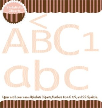 Alphabet Clipart- Polka Dots Style in Pink