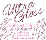 SALE- Alphabet Clipart, Pretty Pink Bubbly Letters