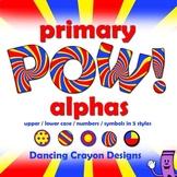 Alphabet Clip Art Lettering: Primary Colors