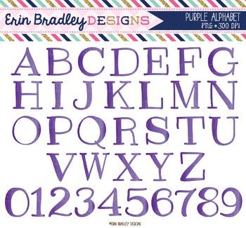 Alphabet Clipart - Purple