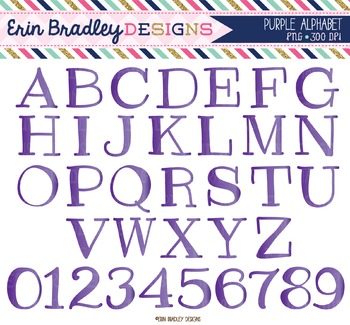Alphabet Clipart - Purple