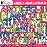 Scribble Scrabble Alphabet Clip Art {Great for Classroom D